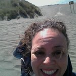 We drove around and found lovely beaches.... but very cold + windy!