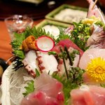  Delicious sashimi at dinner