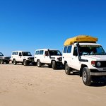 4 x4 's for the Fraser camping tours