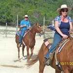  Our first riding lesson. The best fun ever.