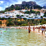 Main beach of Lindos