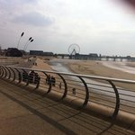 Blackpool beach front looking towards Central pier