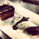 Trio of chocolate desserts
