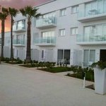So White apartments with private garden, leads straight to the pool