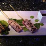 Tuna skewers appetizer