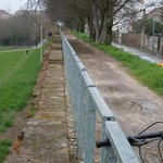 Cycle path on city walls