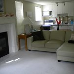 Beautifully furnished bright, clean two bdrm suite, two blocks from ocean.