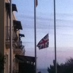  upside down union flag being taken down and rehung following my complaint