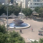  Dizengoff square form my room balcony in Center Chic Hotel