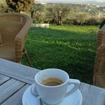 Espresso with an over view of Verona from San Mattia hotel ��