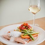 Salmon and white wine mousse