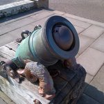 Historic Mortar/Cannon (with cannon ball)