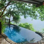  the infinity pool at the Waterfall villa
