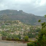  View southward, toward town of Lalibela, from hotel entrance