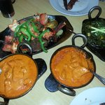 butter chicken plus start and another side dish