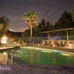 shooting star over the pool