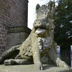  Stone boar outside the hotel
