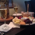  Our Sparkling Cider, Wine and Cheese Special waiting for us when we arrived.