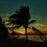  Sunset from Tiki Hut beach area of the Gulf View Waterfront Resort
