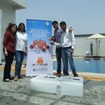 Ice Breaking at Roof-top Swimming Pool