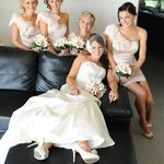  bridal party ready for the wedding