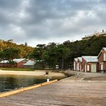 Our Wharf, looking back towards our Visitor Centre and Boilerhouse Restaurant (left)