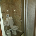 Shower room in room 219