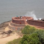 Circular bastion facing the sea