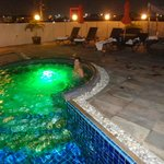 roof top pool at night