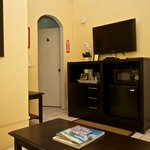 m/w, flat screen hd tv, coffee maker, fridge in each room