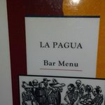  Front of La Pagua Menu