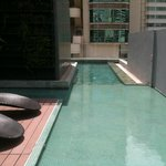 Wading into the rooftop lap pool
