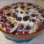  Dessert from our cooking class  Plum Clafouti