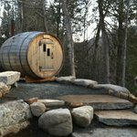  Exterior sauna barrel