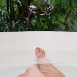  Relaxing in the Open Air Bali Bath