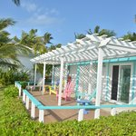 Front porch of beachfront cabanas