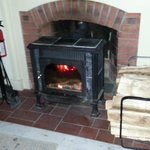 Wood stove..kept the tootsies very warm..