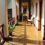  Sun streaming into our corridor