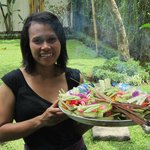  The staff honor Balinese culture by placing offering around the property every day.
