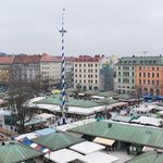 View over market from room