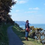 The tarmac cliff path from Lynton to the Valley of the Rocks