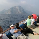  On board the Donna Assunta on the way to Capri