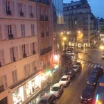  View from the balcony - looking down Rue Vavin