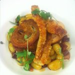  Pork Belly with Gnocchi, Chorizo and Crackling