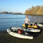 Kayak fishing in Potrero (about two miles up the beach to the North).