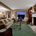  Our Presidential Suite features a fireplace and private balcony