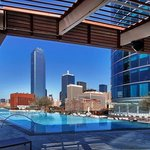  View of Downtown Dallas from pool