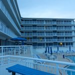 Early evening picture oceanside of Sea Club IV