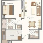 One Bedroom Apartment Sample Floor Plan
