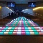 the cool staircase of akasaka station